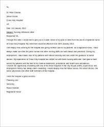 nursing retirement letter letter of retirement