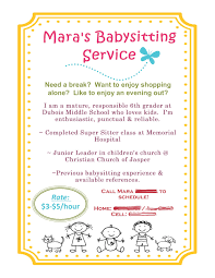 babysitting flyer template best business template babysitting flyer using mds jhvo4wrv