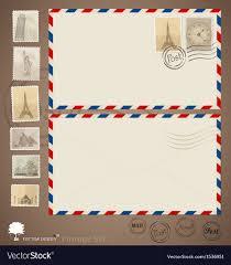 Vintage Envelope Designs And Stamps