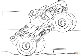 Small Picture Bulldozer Monster Truck coloring page Free Printable Coloring Pages