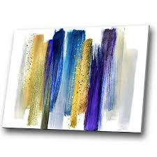 purple blue navy yellow abstract canvas