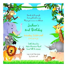 Jungle Theme Birthday Invitations Jungle Theme Birthday Invitations Orgullolgbt