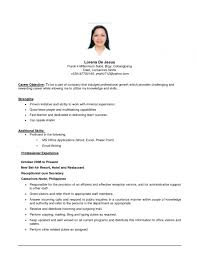 Sample Resume Format Hrm Formal Resume Format For Ojt Collection Of