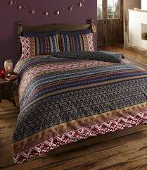 details about ethnic indian style orkney navy maroon red brown and gold double duvet cover set