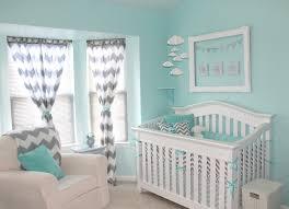 aqua and grey chevron baby bedding