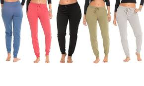 Coco Limon Womens Fleece Joggers 5 Pack Size M