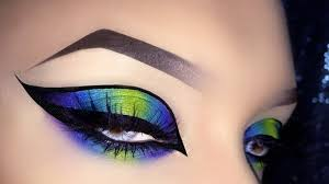 y neon exotic colorful cat eye arabic makeup tutorial using urban decay electric palette you