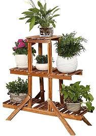 generic wooden plant stand indoor outdoor garden planter flower pot stand shelf rack