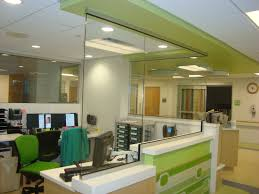 wood wall dividers bright office room interior with glass room partition combined with short white bright office