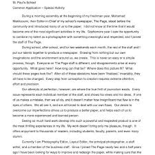 Example Of High School Essays Influential Person College Essay Purpose Of Thesis Statement
