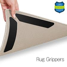 rug carpet grippers 8 pcs anti curling rug gripper renewable carpet grippers for corner edges with gripper tape non slip rug pads for rugs