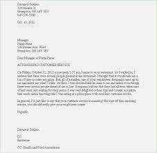Complaint Format Complaint Letter format for Poor Service thepizzashopco 83