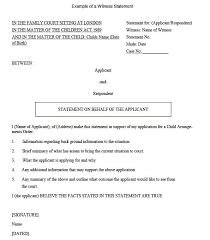 Workplace Accident Witness Statement Template A Sample