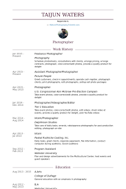 sample photographer resume template photographer resume template