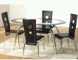 2 tone oval dining tables and chairs details about black gl dining table 2 tier oval four chairs