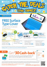 comex 2016 comex microsoft office promotions deals price lists microsoft surface pro 4 0 tablet office 365 cashback