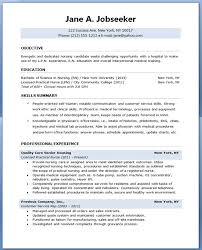 Nurse Cv Template Fascinating Gallery Of Sample Resume For Nursing Student Resume Downloads Best