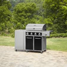 kenmore 6 burner gas grill. 071020125000 kenmore 4 burner gas grill with folding side table, lit 6 l