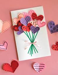 bouquet of hearts card for valentine s