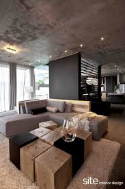 fantastic cool cubicle ideas. Cool Industrial Living Room Interior Design And Decorating With Craetive Coffee Table Solid Wood Cube L Shape Corner Chaise Lounge Unfinished Concrete Fantastic Cubicle Ideas I