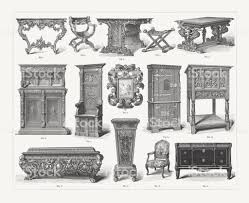 Image Leg Furniture Of Different Styles From Gothic To Rococo Published 1897 Illustration Istock Furniture Of Different Styles From Gothic To Rococo Published 1897