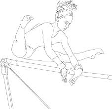 coloring pages gymnastics coloring pages to print gymnast hello kitty page free