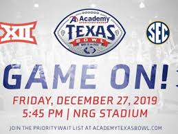 Academy Sports Outdoors Texas Bowl Big 12 Vs Sec