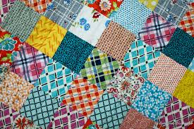 Blue is Bleu: DS Patchwork Baby Quilt & It's a patchwork quilt I made out of squares cut from the DS fabrics I've  been completely smitten with lately. The colours are just so cheerful and  happy, ... Adamdwight.com
