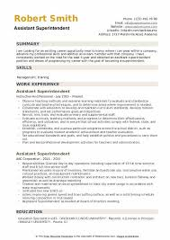 Examples Of Qualifications For Resumes Assistant Superintendent Resume Samples Qwikresume