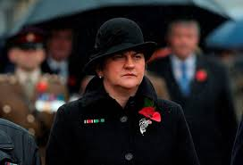 Image result for arlene foster on remembrance sunday