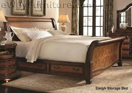 King Size Sleigh Bed Bedroom Set Bedroom Set Sled Bed Black Sleigh ...