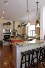 Elegant Kitchen elegant kitchen with eatin bar stock photo picture and royalty 4450 by xevi.us