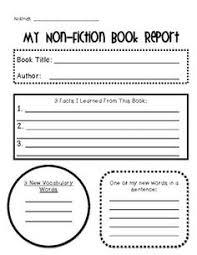 th Grade Book Report Printables   Printable Book Report Forms Book Report  Outline Form for Older