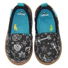 Chooze Scout In Rockout Fabrics Black Canvas Slip On Shoes