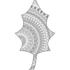 Small Picture Leaf coloring page Adult coloring book from hedehede Home