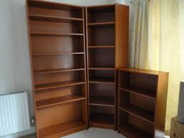 Ikea Billy Bookcases, Cherry Red Veneer, Set of Three-Corner Unit, Large