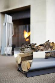 fireplace accessories blomus stainless steel firewood log holder to view additional images