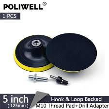 <b>POLIWELL 5 Inch</b> Hook and Loop Back Up Sanding Pad M10 ...