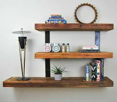 classic design floating wall shelves