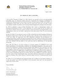 Letter Of Recommendation Mechanic Letter Of Recommendation Mechanical Engineering Magdalene