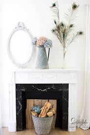 farmhouse decorating ideas for the fireplace mantel