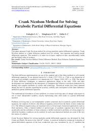 pdf crank nicolson method for solving parabolic partial diffeial equations