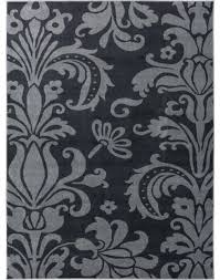 gray black and white damask rug runner contemporary area rugs