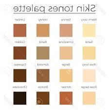 Photostock Vector Skin Tones Color Palette Vector Skin Color