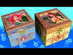 box surprise princess ariel the little mermaid and princess belle beauty and the beast