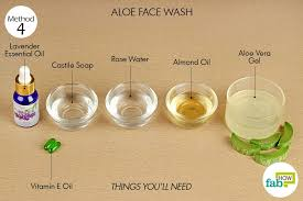 diy aloe face wash aloe vera gel soothes and repairs skin controls acne ¼ cup
