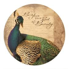 Peacock Beauty Quotes Best of Be Your Own Kind Of Beauty Peacock Sandstone Round Coasters Set Of