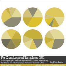 Photoshop Chart Template Pie Charts Layered Templates No 01 Katie Pertiet Pse Ps