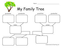 Family Tree Worksheet - 3 Children   Have Fun Teaching