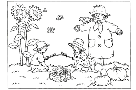 Small Picture Fall Coloring Pages Printable Coloring Pages Fall Harvest Coloring